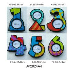 Les chiffres décoratifs en bois Kids Picture Frames Dollar en MDF