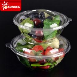 Clair jetables à emporter bol à salade en plastique avec couvercle