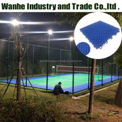 WanHe OEM과 ODM, 고품질 실외 PP 스포츠 바닥 수용 스포츠 코트 타일 스포츠 플로어 농구 배구용 스포츠 플로어 배드민턴 테니스 코트