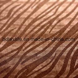 De Huid van de Perzik van het Ontwerp van de luipaard beëindigde In reliëf gemaakte Stof voor de Textiel van het Huis