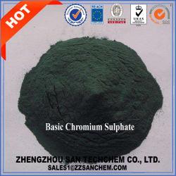 Industrie du cuir sulfate basique de chrome Poudre verte CEMFA : 39380-78-4