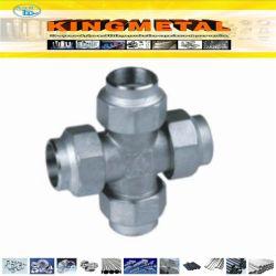 Gli accessori per tubi dell'acciaio inossidabile hanno scanalato la traversa uguale
