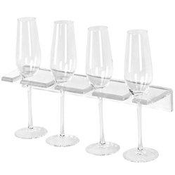 Plastic drink Hangende Rek van Champagne van de Houder van de Wijn het AcrylMuur Opgezette