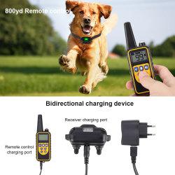 Elektrische hondentrainingskraag van 800 m, afstandsbediening voor huisdieren, waterdicht, oplaadbaar Met LCD-scherm voor schokvibratiegeluid van alle formaten