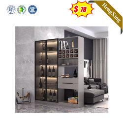 Vino chino moderno mostrar pequeños Libreria Inicio de MDF 2 puertas de cristal Muebles de salón