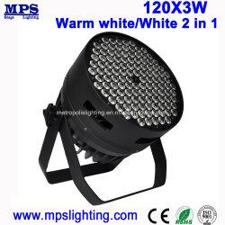 DMX освещения сцены 120*3W теплый белый / Белый 2в1 LED Wash PAR лампа Can