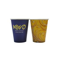 コーヒーバーは12oz熱いコーヒー飲む紙コップを1個の時間によって使用されたコップ使用した