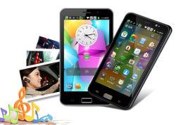 """Téléphones Android PDA MTK6589 à quadruple coeur 5.3"""" OEM 3G WCDMA 850/1900/2100MHz GSM GPS téléphone double SIM tablette Android téléphone intelligent"""