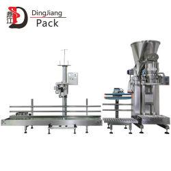 DJ-1c1 de aço inoxidável Semi-automático do sem-fim de Dupla Alimentação 10kg 25kg de leite de Big Bags /proteína/Café/Spice-detergente/ Enchimento pulverulento embalagem máquina de embalagem