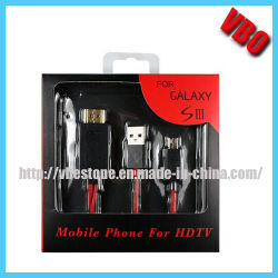 SamsungギャラクシーS3 (CS-021)のためのMhlケーブル