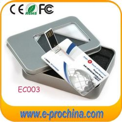 Unidade Flash USB de cartão de ABS 16GB Flash USB com o logótipo cor total (CE003)