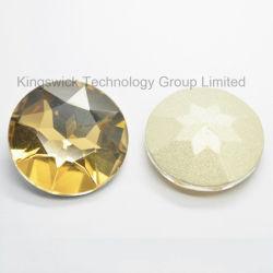 Rundes Punkt-Rückseiten-Silber-vereitelte heilende Kristallkorne