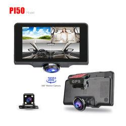 Bildschirm-Benutzerhandbuch-FHD 1080P Videogerät des IPS-5inch TFT Auto-der Kamera-DVR 360 Grad-Gedankenstrich-Kamera