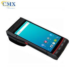 طابعة محمولة محمولة باليد محمولة باليد محمولة باليد جديدة بشاشة لمس مقاس 5.5 بوصة PDA (المساعد الشخصي الرقمي) الخاص بطرف