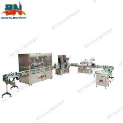 Bouteille de liquide d'huile de remplissage automatique de la machine avec plafonnement de la ligne d'étiquetage d'étanchéité