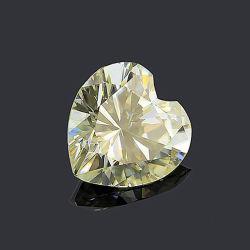 Herz Form Moissanite Natürliche Gelbe Moissanite Steine