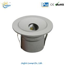 درجة LED المنخفض في مصباح LED الموجود بالحائط IP65 مصباح LED خفيف وممر ضوء دائري جدار مدفون ضوء LED غائر ضوء LED Stair بقوة 1 واط وقوة 2 واط