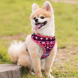 Modelo personalizado mascota perro de cuero ajustable arnés y correa accesorios para mascotas