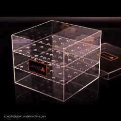 ローズカスタム単一のアクリルのボックスアクリルの花ボックス9穴