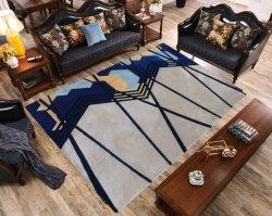 De soie colorée de tapis et carpettes Mat Nice design tapis de plancher Banboo rayonne viscose de tapis de luxe