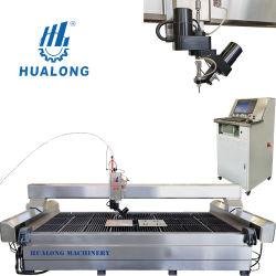 Hualong Hlwj-4020 5 ejes de corte CNC Máquina de grabado de piedra de Metal Cristal maquinaria de corte por chorro de agua de la molienda mármol Precio de la cortadora de chorro de agua