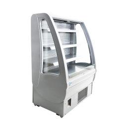 2-8 Grad-Celsius-geöffneter Typ Kühler-Supermarkt-Gaststätte-Gebrauch mit LED-Licht-Bildschirmanzeige-Getränkekuchen-Nahrung für Verkauf