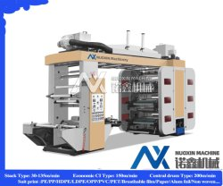 6/8 Farbe Stapel Typ Kunststoff Papier Flexodruck Druckmaschine