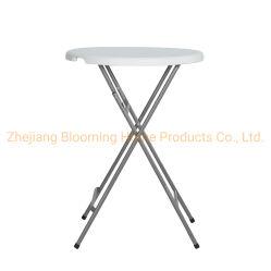 32inch HDPE Kunststoff Klapptisch mit Stahlrahmen für Innen- Und Außenbereiche
