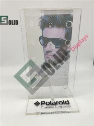 Brillengestell Aus Acryl 4 Tiers/Winkel Brillen Rahmen Riser/Acryl Wandhalterung Verriegelbare Sonnenbrillen-Display/Acryl Zwei-Paar-Brillen-Display