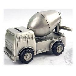 백랍 아기 돈 상자 아연 합금 시멘트 트럭 동전 상자