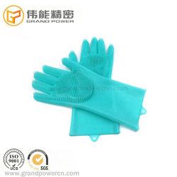 Guanti Heatproof 100% della spazzola della cucina dei guanti di lavatura dei piatti del forno del silicone del commestibile