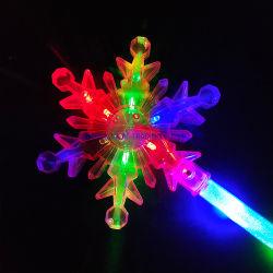 Giochi per bambini lampeggiante luce su bastone Snowflake LED per Natale