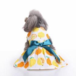 Mayorista de ropa de diseñador personalizado acceso Cat Suspender primavera verano vestidos de gasa de pequeñas y medianas perro mascota ropa