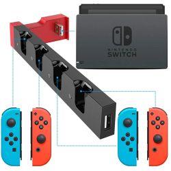 Voor NIdequiry Switch Charger 4-poorts Joypads Controller Gamepad opladen Schakelaar voor dock Station Console Holder Charger voor Nintendo Switch