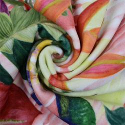 Hot Sales Custom Printing Double Side Stretch Minky, 85% polyester en 15% Spandex pluche