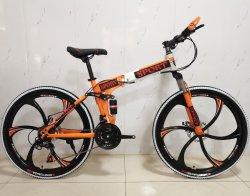 Estrutura dobrável em aço para bicicletas de montanha