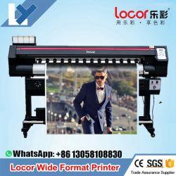 Lecai Locor/XP600 Dx5 Dx7 Eco Solvente Impressora Locor Easyjet 1601 Máquina de rolo de impressão digital de 1,6 metro Single/Double xp600 Barata Impressora de Grande Formato do cabeçote de impressão