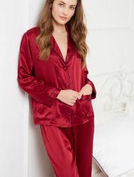 изготовленный на заказ<br/> леди шелковые пижамы
