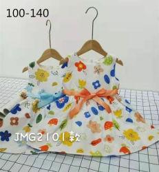 Stock Kinder Kleidung Kind Sommer Baumwolle Kleider Gedruckt Muster Mädchen Kleid Kinderkleidung Süße Schönheit Prinzessin Kinderkleidung