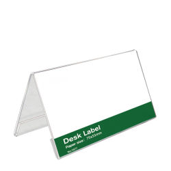 بطاقة اجتماعات أكريليك شفافة بطاقة مقعد الضيف على الوجهين من النوع V بطاقة الطاولة