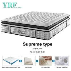 Оптовая торговля роскошь двуспальная кровать латекс пружинные матрасы для спальни