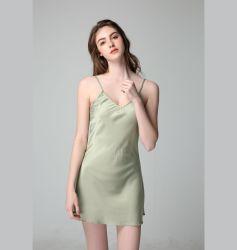 Erwachsenes Hauptabnützung-Großverkauf-Silk Robe-Frauen-Nachtzeug-reizvolles Abend-Kleid