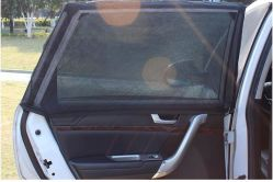 2PCS 차 일요일 그늘 정면 뒷 창 차양 메시 차양판 보호 Windows 필름