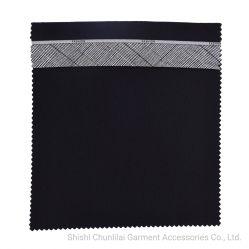 Eco-Friendly impresso reciclados acessórios de vestuário de cor sólida de tafetá tecido de algodão de poliéster para calças Forro de bolso das calças