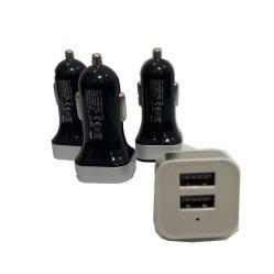 Logotipo personalizado doble de rápido Universal cargador de coche USB Mini USB Adaptador de Carga Radioteléfono para teléfono móvil iPhone GPS Tablet