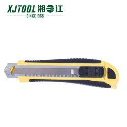 高品質のHandtoolの安全箱のカッターのナイフまたはユーティリティカッターのナイフの組み込み3の刃