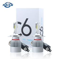 Grossista Hazig C6 carro LED faróis dianteiros H7 Kit Luces LED H11 9005 H4 72W 8000lm carro lâmpadas LED 6000K Bombillo Luz LED das luzes de nevoeiro 12V faróis automóveis C6 H4