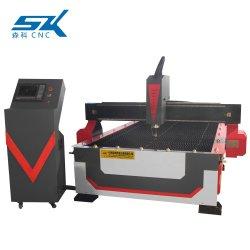 Metallplatte Rohr schneiden Markierung Bohren CNC Plasma Kupfer Schneidemaschine mit Wassertisch drei Köpfe Plasma