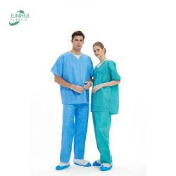 Одноразовый медицинский нетканый V-образный хомут SMS SurgicalUniform Scrub оптом Костюм для больницы