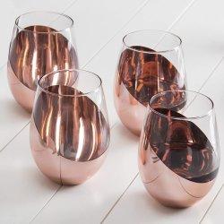 12oz Wine Tumbler verre avec couvercle - Tasse à café tasse Stemless vide en acier inoxydable 18/8 Modèle : marbre de Carrare